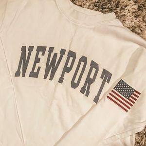Newport Brandy Melville cropped sweatshirt